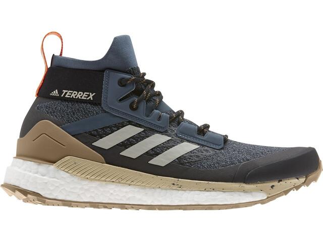 adidas TERREX Free Hiker Vaelluskengät Miehet, legacy blue/metal grey/raw desert